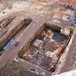 Badania archeologicznew 2008r. Wykopy w centrum dziedzińca zamkowego