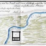 Najstarszy plan zamku z 1796 r. Rysunek